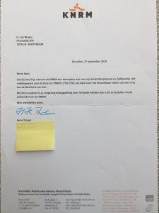 KNRM brief bij boek